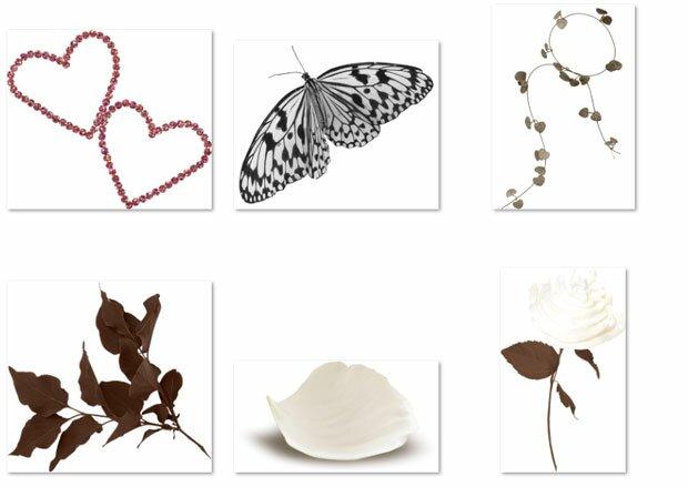 Бабочка и сердечки