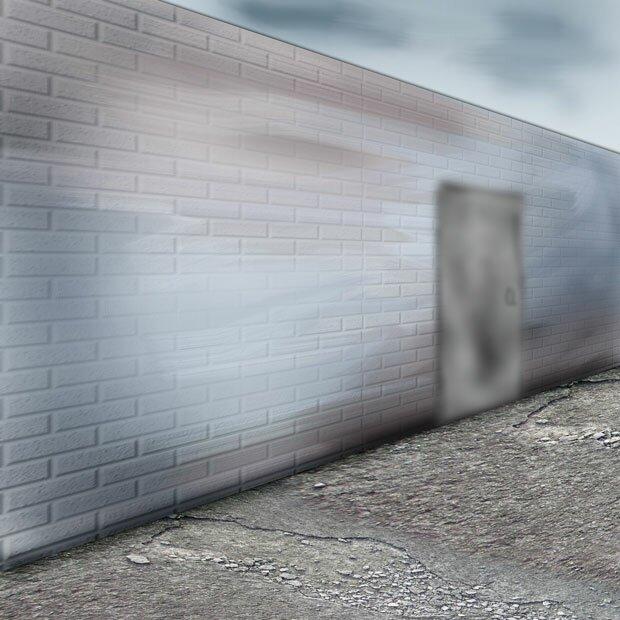 Фон кирпичная стена и дверь