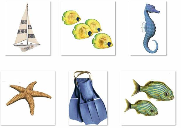 Рыбы и морской конек
