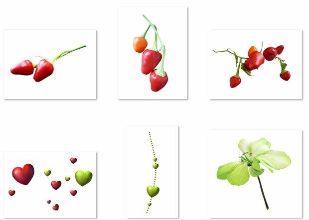 Красная ягода в виде сердца