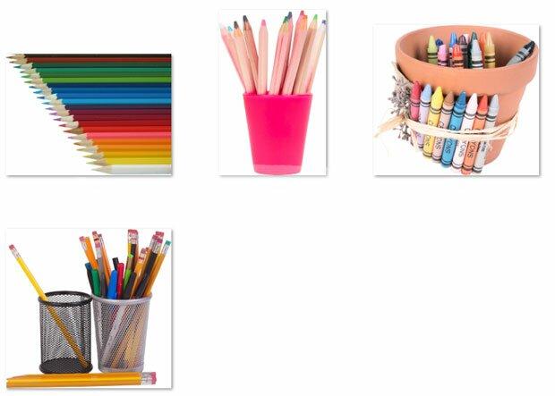 Стаканы с карандашами