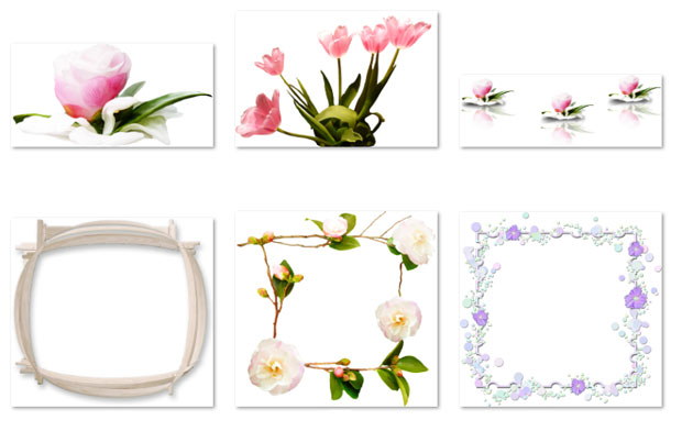 Рамки из цветов