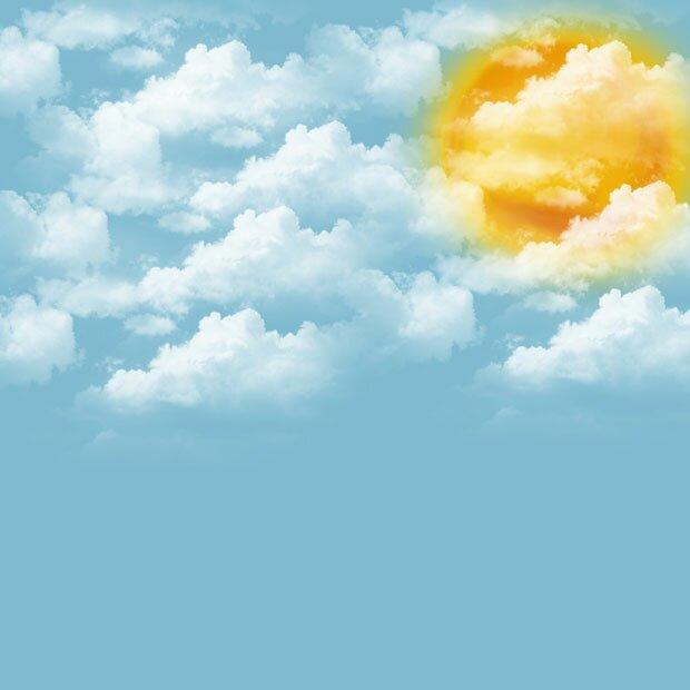 Перистые облака в небе над тропиками