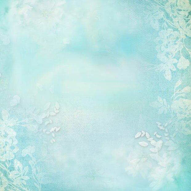 Синий фон с цветами