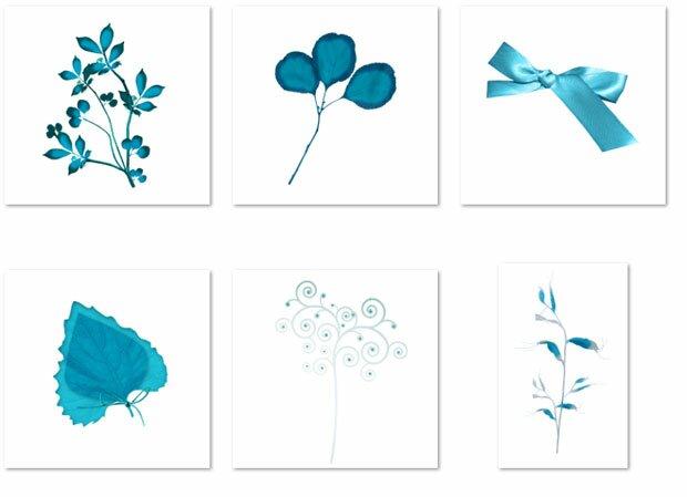 Синие цветы и украшения
