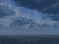 Море и облака на горизонте