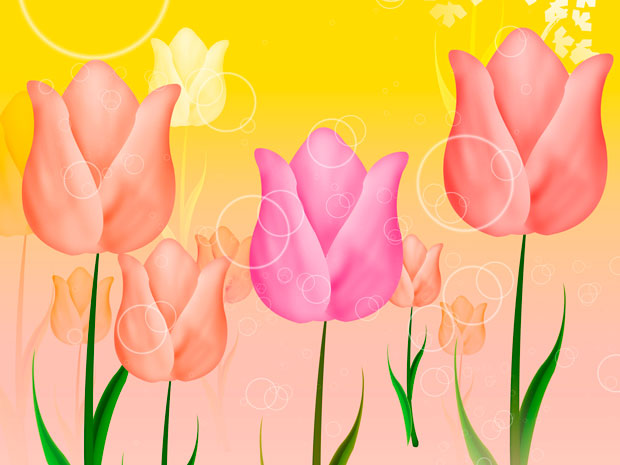 Фоны для презентаций - цветы в японском стиле 5