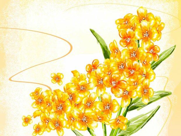 Фоны для презентаций - цветы в японском стиле 8