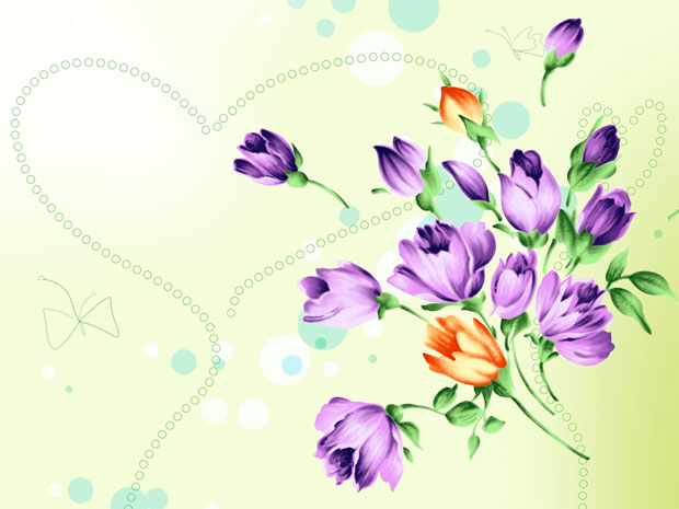 Фоны для презентаций - цветы в японском стиле 11