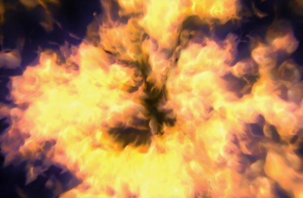 Столб пламени