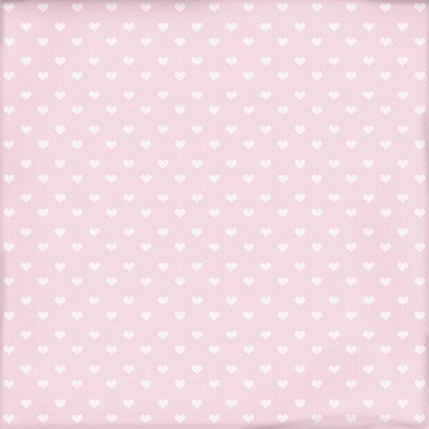 Сердечки на розовом фоне