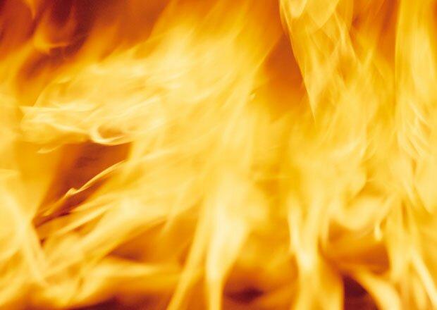 Сильное пламя