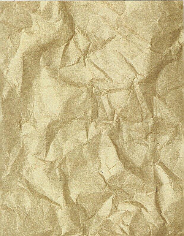 Мятый листок бумаги